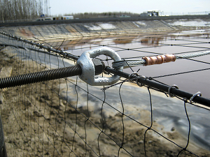 Frac Pond Netting Installation